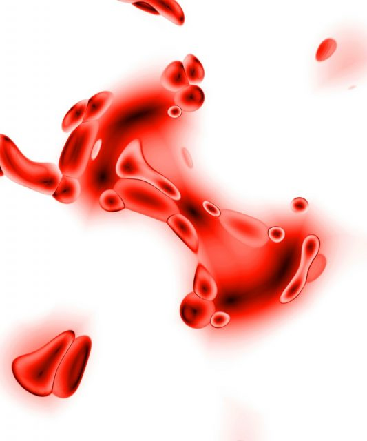 Bloody Discharge - 3d rendering of some red blood cells