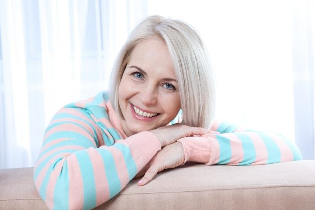 Premenopause: Attractive middle aged woman