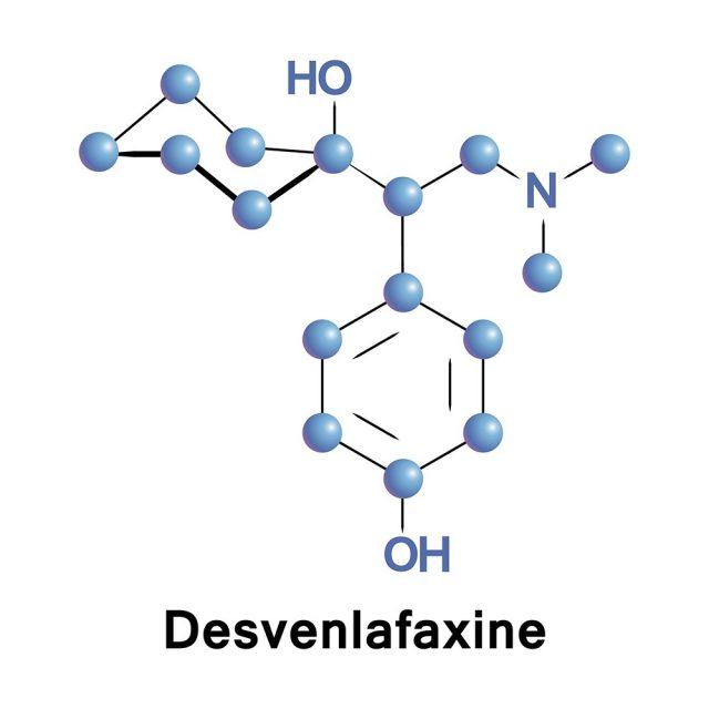 Desvenlafaxine or O-desmethylvenlafaxine, is an antidepressant of SNRI class.