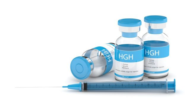 HGH vials with syringe