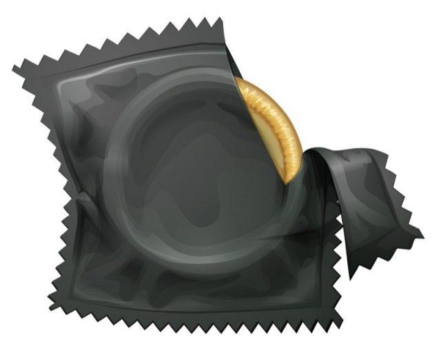 Illustration of a condom