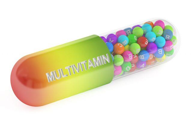 multivitamin capsule, 3D rendering