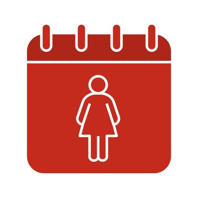 International Women's Day glyph color icon